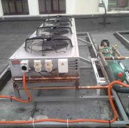 установка кондиционера на крыше